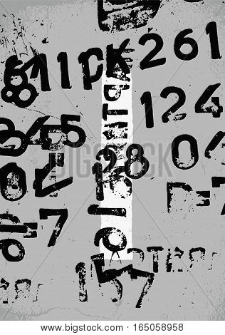 Typographic retro grunge abstract background with signs. Vector illustration.