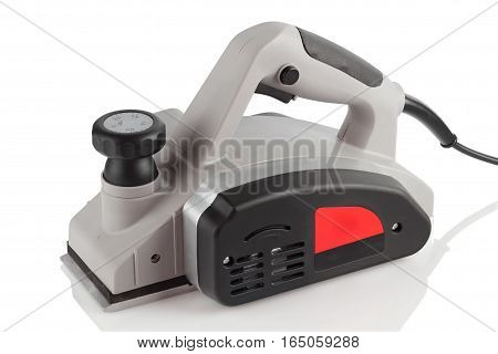 Power planer on a white background in the studio.