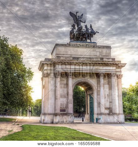 The Wellington Arch at Constitution Hill London UK
