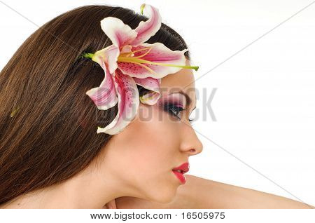 Beauty With Orchid