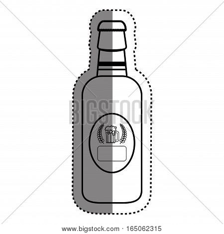 Bottle of beer icon vector illustration graphic design