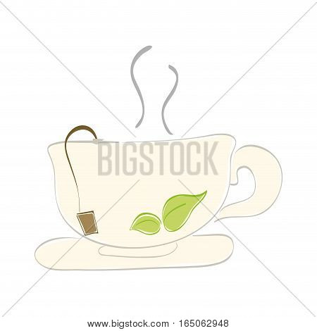 Delicious tea cup icon vector illustration graphic design