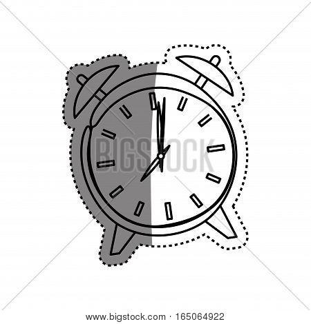 Vintage clock with alarm icon vector illustration graphic design