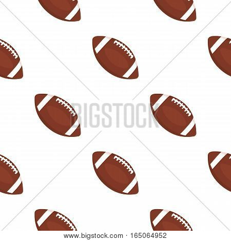Rugby ball icon cartoon. Single sport icon from the big fitness, healthy, workout cartoon. - stock vector