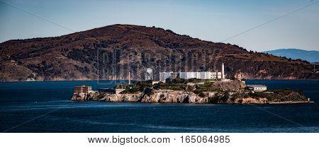 Island Of Alcatraz Near San Francisco In Usa