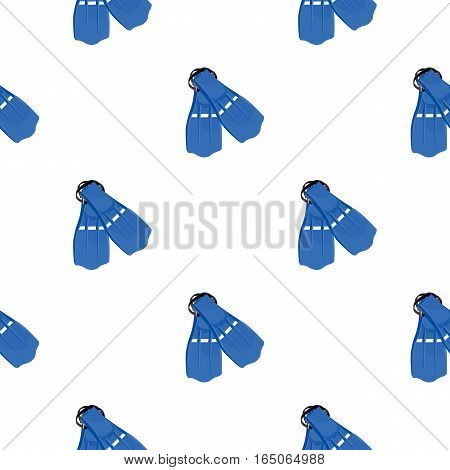 Flippers icon cartoon. Single sport icon from the big fitness, healthy, workout cartoon. - stock vector