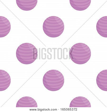 Fitness ball icon cartoon. Single sport icon from the big fitness, healthy, workout collection. - stock vector