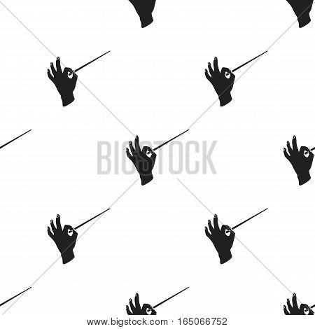 Conductor orchestra icon in  black style isolated on white background. Theater pattern vector illustration