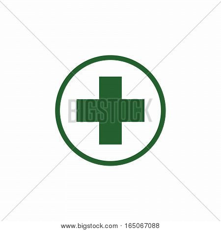 First aid sign vector design isolated on white background