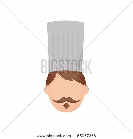 Chef hat profile icon vector illustration graphic design