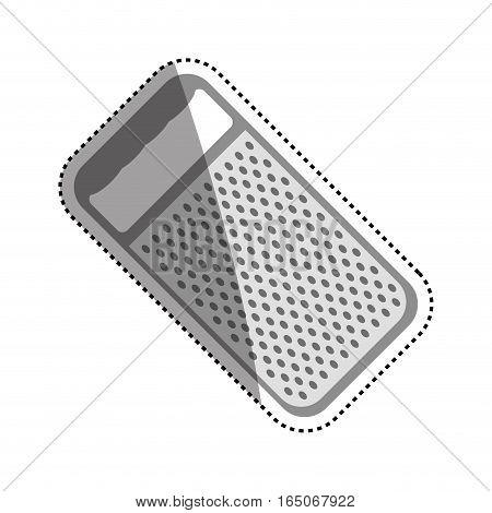 kitchen grater isolated icon vector illustration graphic design