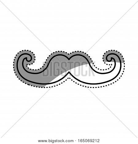 Vintage gentleman mustache icon vector illustration graphic design