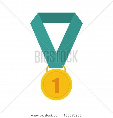 First place medal icon vector illustration graphic design