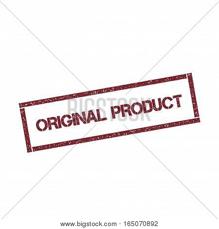 Original Product Rectangular Stamp. Textured Red Seal With Text Isolated On White Background, Vector