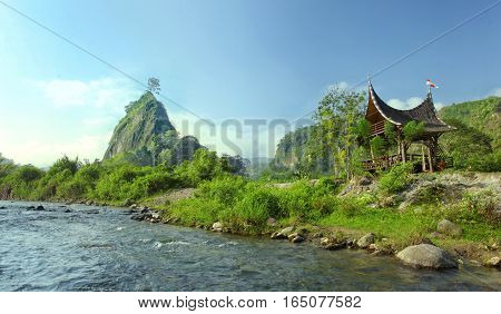 Morning view at Ngarai Sianok Valley West Sumatra