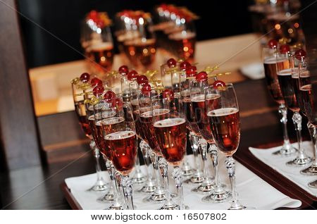 coctail and banquet catering party event at beautiful hotel restaurant on night poster