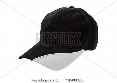 Golf cap black and white for man on white background