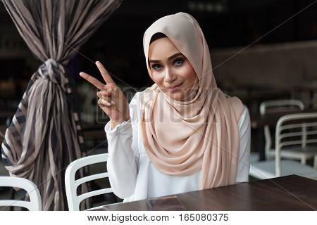 Malay Woman Eating