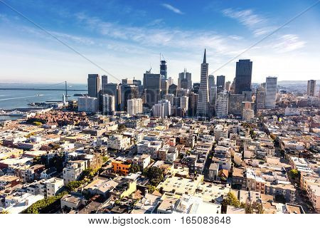 San Francisco Downtown California in the afternoon