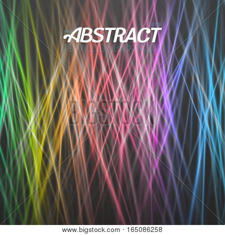 Illustration of Abstract Light Background. Vector Motion Graphics Disco Light Template