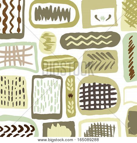 Abstract pattern with hand draw stones in nature colors