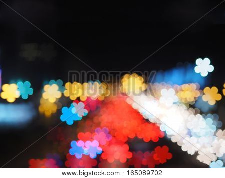 blurred flower bokeh abstract for nature background