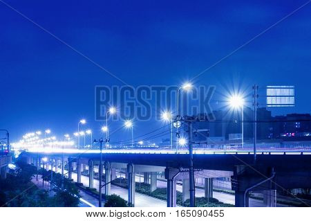 City viaduct road night scene in China