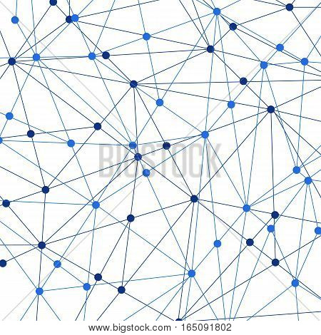 Vector illustration of Network background. Connection concept.