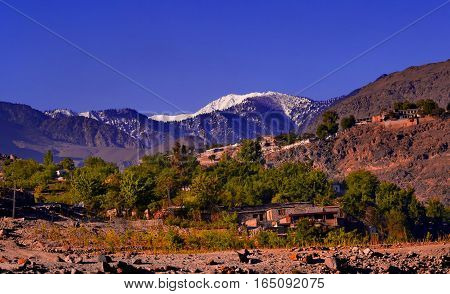 small village nearby the boarder of India and Pakistan