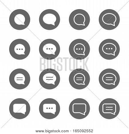 basic speech bubble shape icons set,vector Illustration EPS10