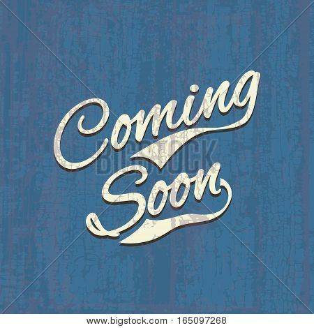Coming soon, sale poster, vector image illustration