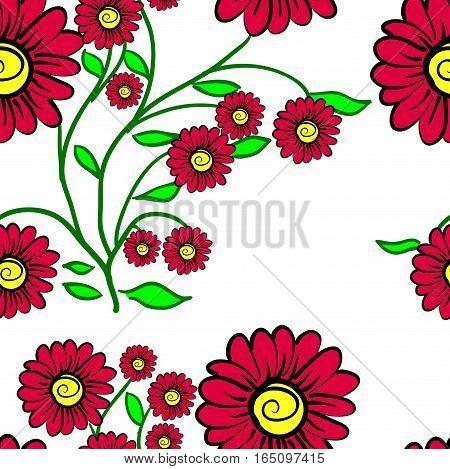 Elegance Seamless color pattern on background, vector illustration