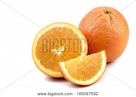 A selection of citrus fruit isolated on white