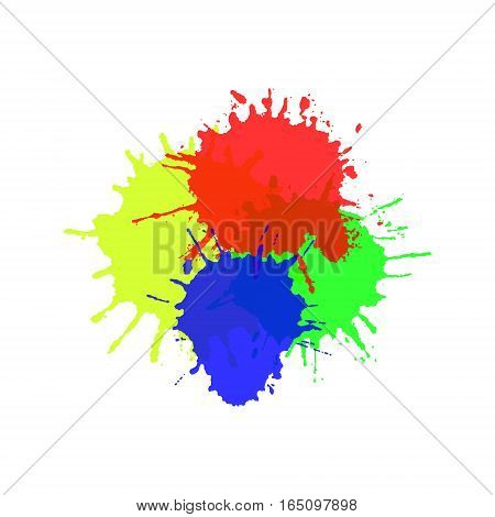 Watercolor splats isolated on white background Vector illustration