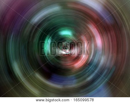 Spinning lights make an abstract color background
