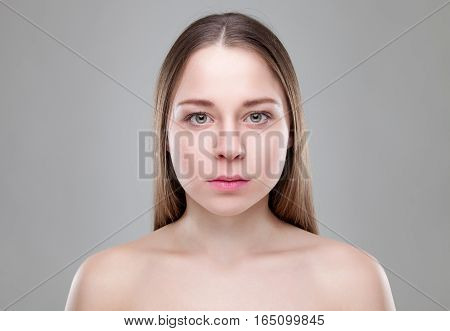 Young naturally beautiful woman with great skin complexion