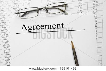 Paper With Agreement On A Table