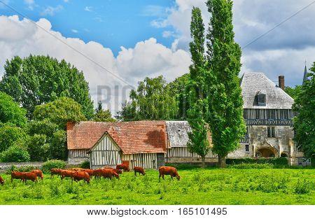 Sahurs France - june 22 2016 : the Marbeuf manor