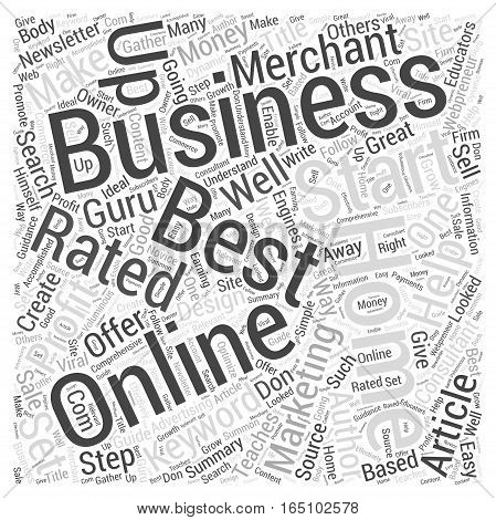 Best Rated Home Business Word Cloud Concept