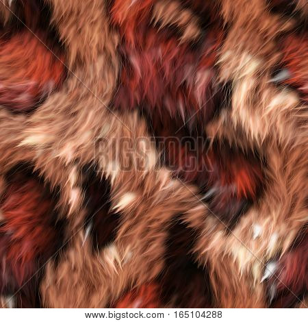 A completely soft fur animal skin fabric.
