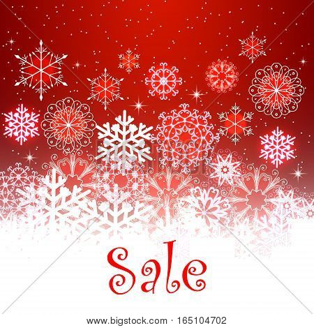 Christmas SALE. Advertising design for posters, flyers, banners promotion actions