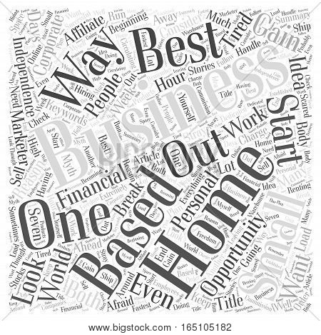Best Small Home Based Business Word Cloud Concept
