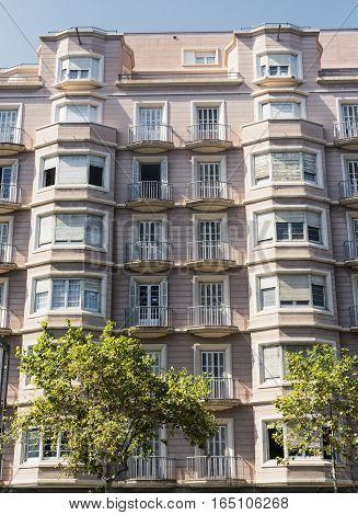 Barcelona (Catalunya Spain): building in the Avinguda del Paral-lel