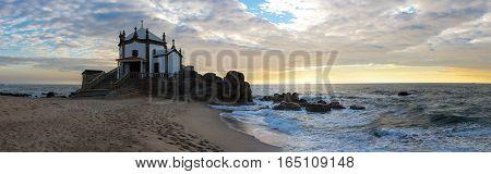 Capela do Senhor da Pedra on sunset Porto Portugal
