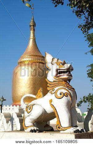 Stupa of Bu Paya pagoda at the archaeological site of Bagan on Myanmar