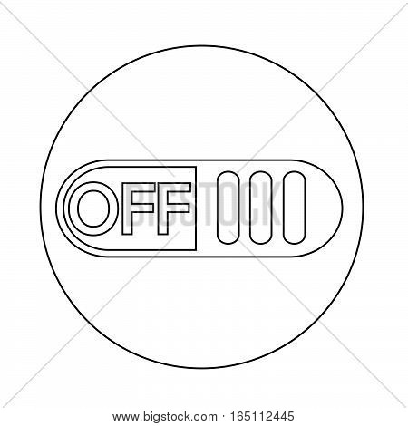 an images of Or pictogram Off switch button icon