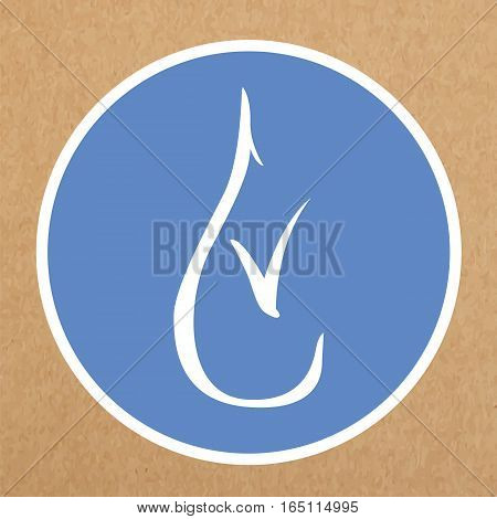 Hypoallergenic icon vector sign of a drop with a tick