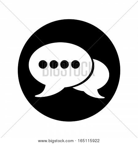 an images of Speech bubble icon illustration design