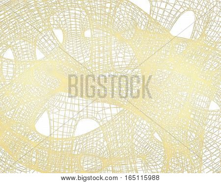 Beige abstract grid on a white background.