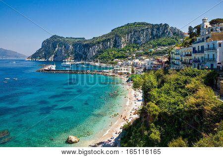 Italy Capri the Marina Grande bay and harbor